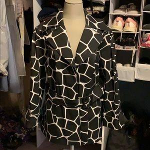 INC short trench coat style jacket size 1X